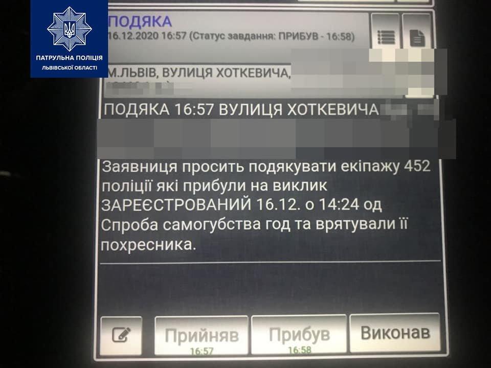 Патрульні, які врятували життя молодого чоловіка у Львові, Фото: пресслужба патрульної поліції Львівської області