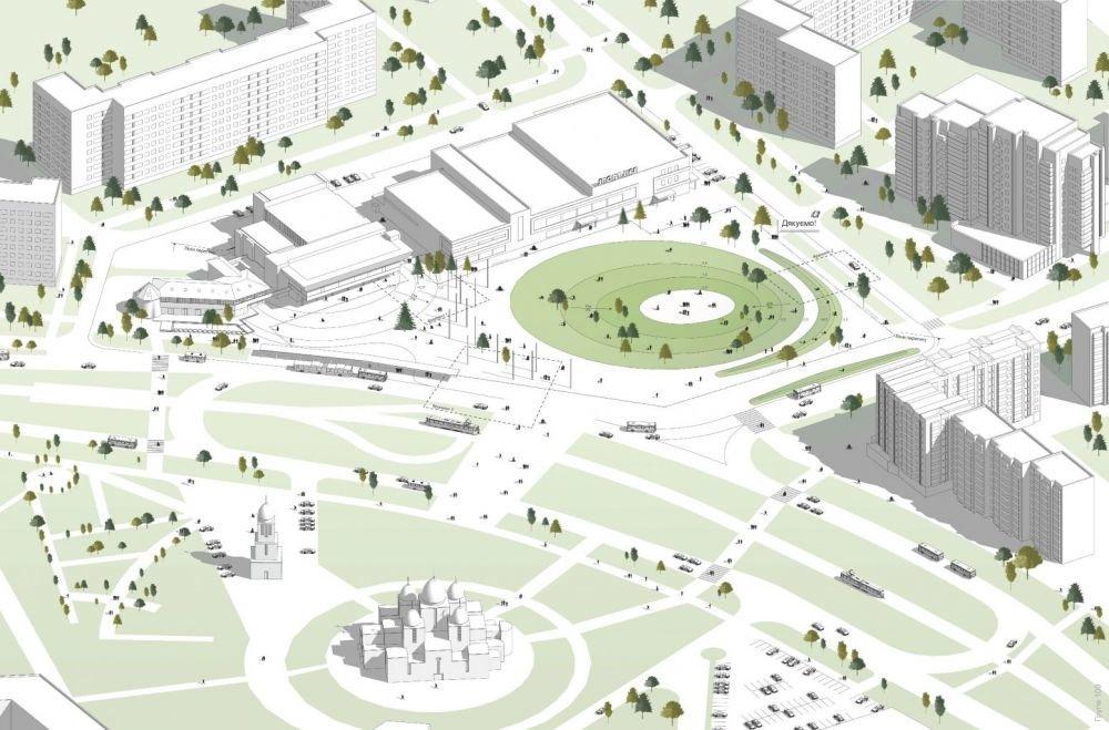 Площа Довженка, Візуалізація з сайту ЛМР