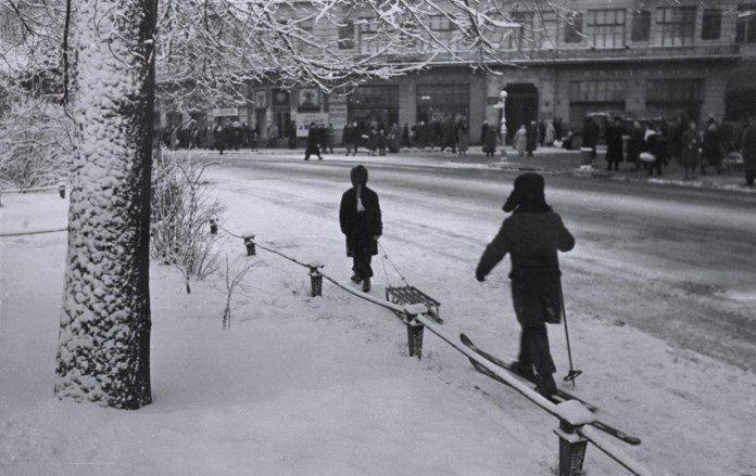 Зимовий Львів у 1960 році, Фото - Юліан Дорош
