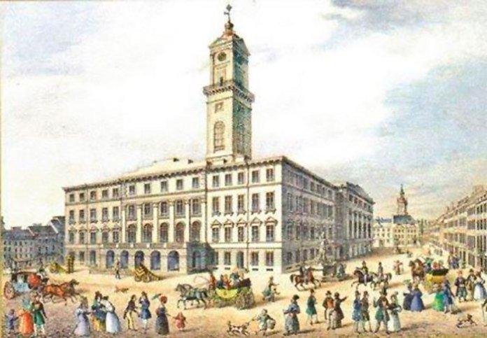 Ратуша, яка звели у 1835 році, Фото: photo-lviv.in.ua