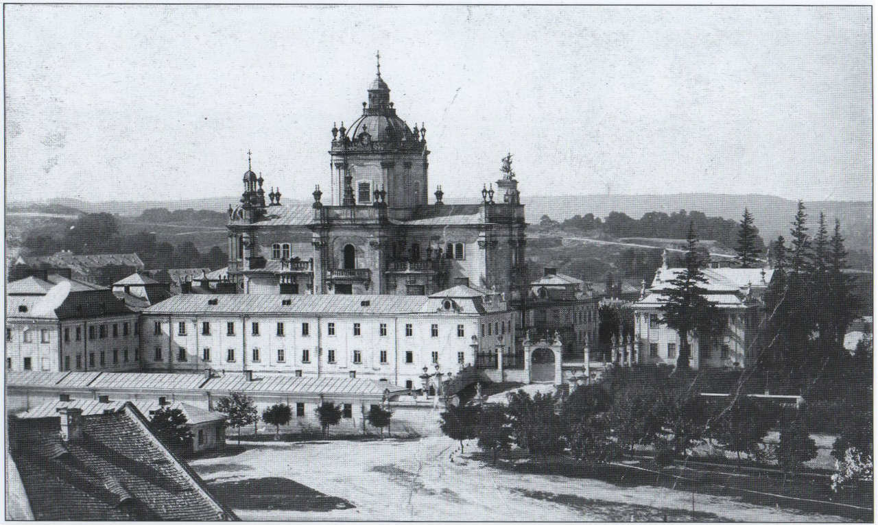 Собор Святого Юра близько 1900 року, Фото: photo-lviv.in.ua