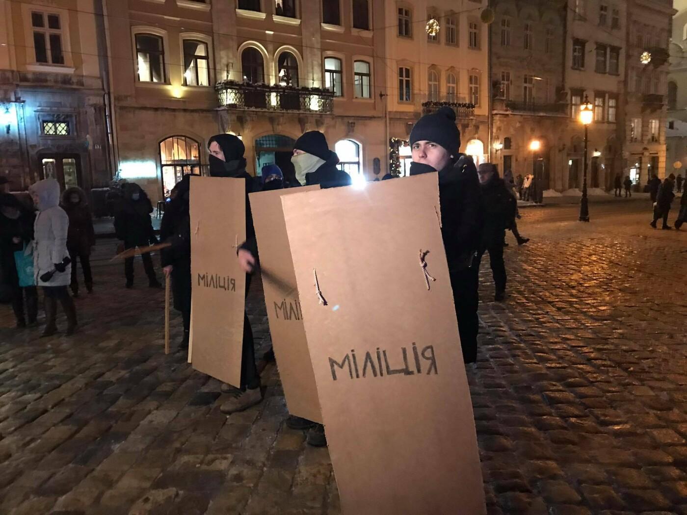 У Львові студенти відтворили події Революції Гідності, Фото - 032.ua
