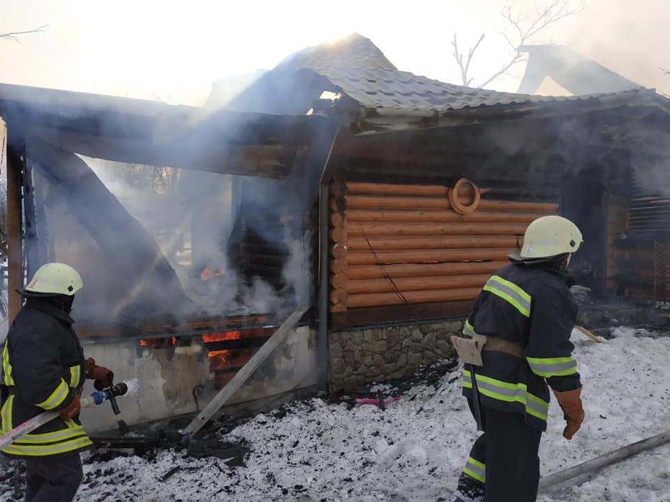 Згорів дерев'яний житловий будинок, Фото: ДСНС Львівщини