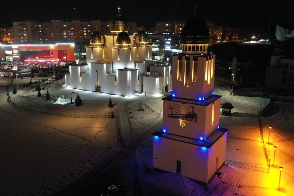 Підсвітили сакральні споруди у Львові, Фото: пресслужби Львівської міськради