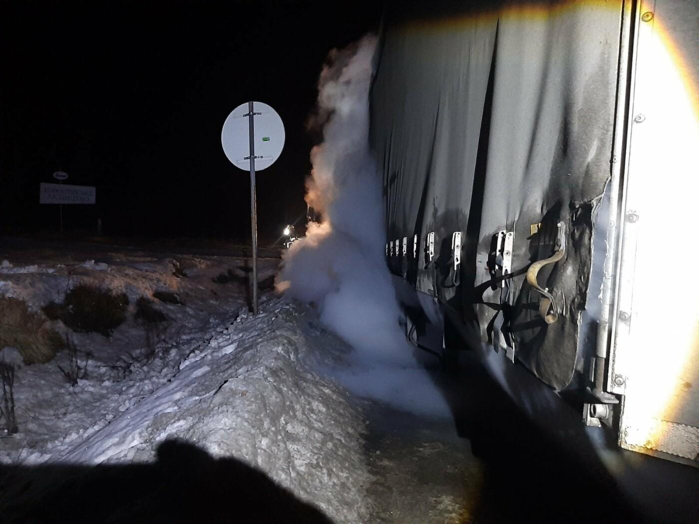 Пожежа у вантажному автомобілі, Фото: ДСНС Львівщини