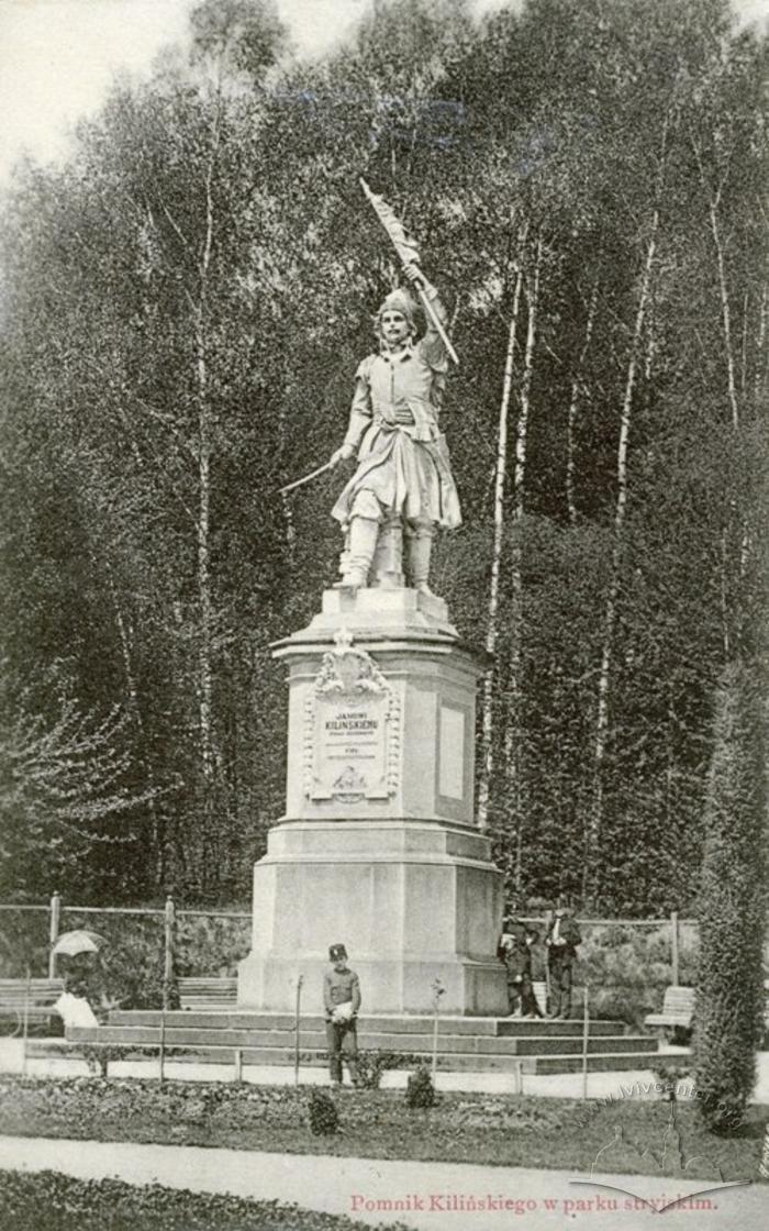 Пам'ятник Яну Кілінському у парку, uma.lvivcenter.org