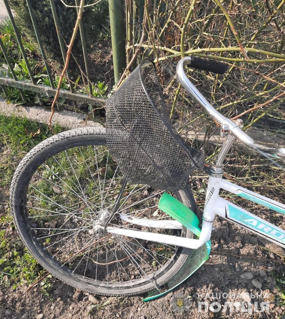Наїзд на велосипедиста у Городку, Фото: поліція