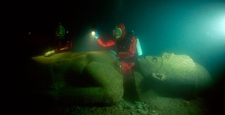 Руїни міста Геракліон під водою у Єгипті, Фото - з відкритого доступу