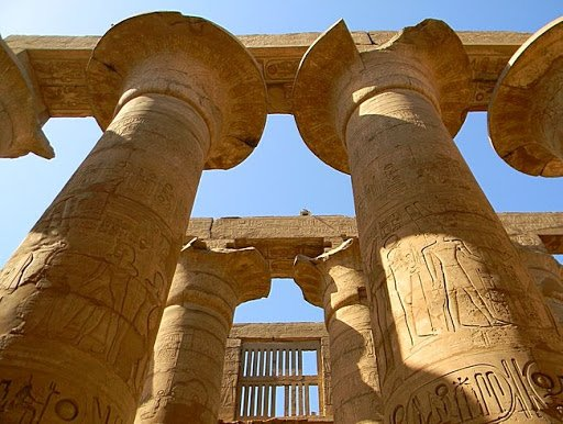 Колонний зал фараона Сеті I, Фото - з відкритого доступу