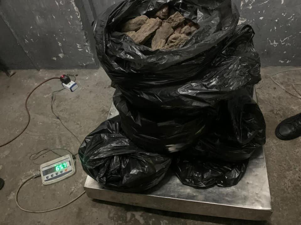 Бурштину виявилось понад 60 кг, Фото: Галицька митниця