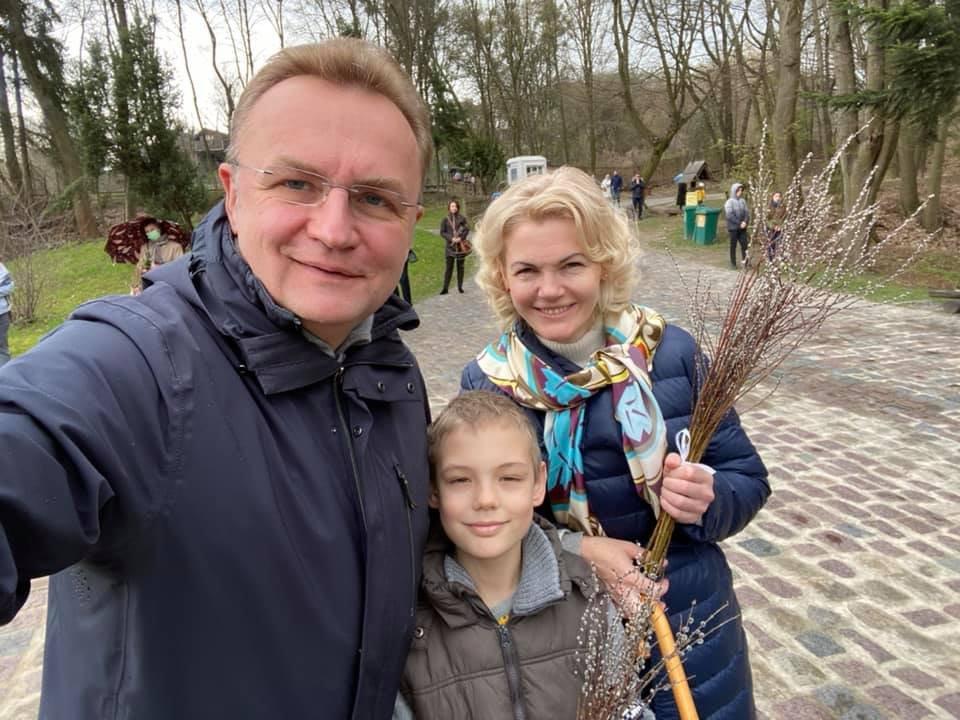 Андрій Садовий разом с родиною