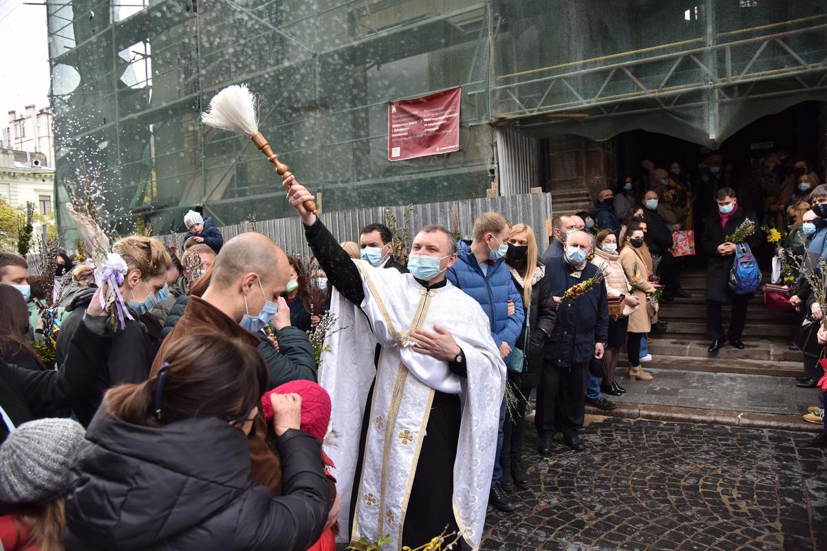 Вербна неділя у Львові