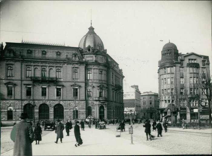 Вигляд на Галицьку ощадну касу, 1925 рік, Фото: photo-lviv.in.ua