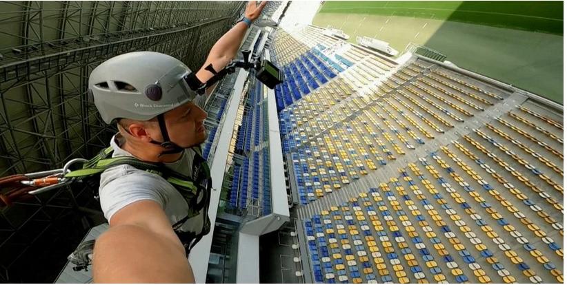 Стрибок з даху стадіону «Арена Львів», Фото: НЛО TV