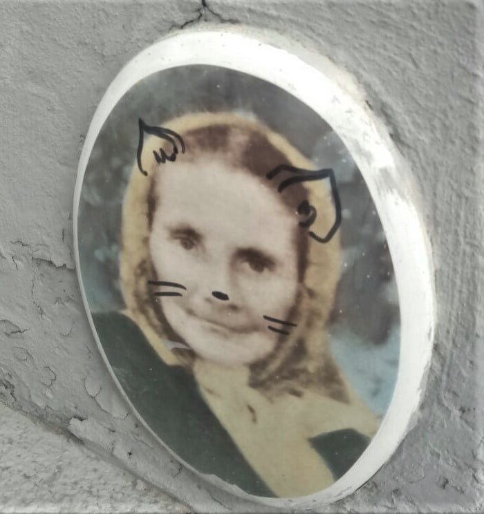 Вандали розмалювали портрети на могилах, Фото: Facebook/Микола Сенейко