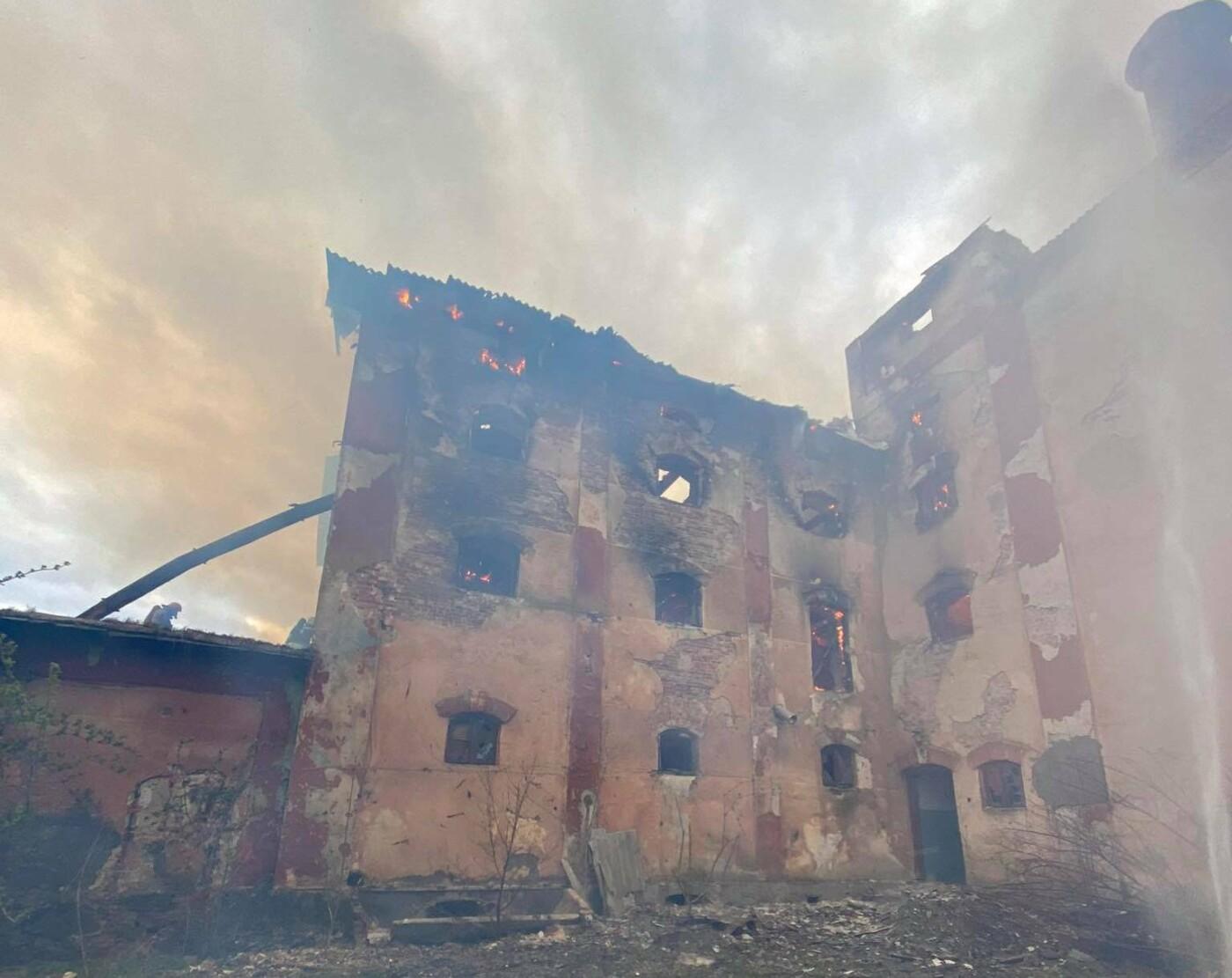 Пожежа у місті Радехів, Фото: ДСНС у Львівській області