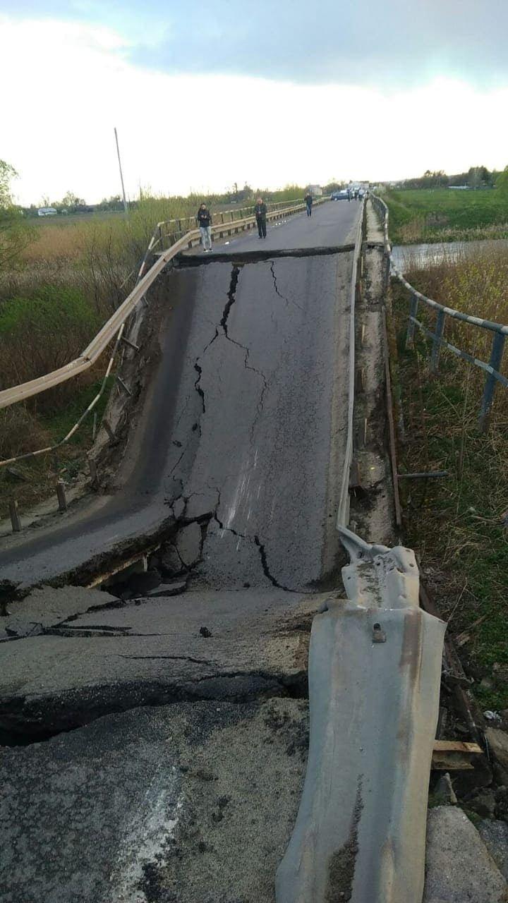 Обвалився міст, Фото: ДСНС