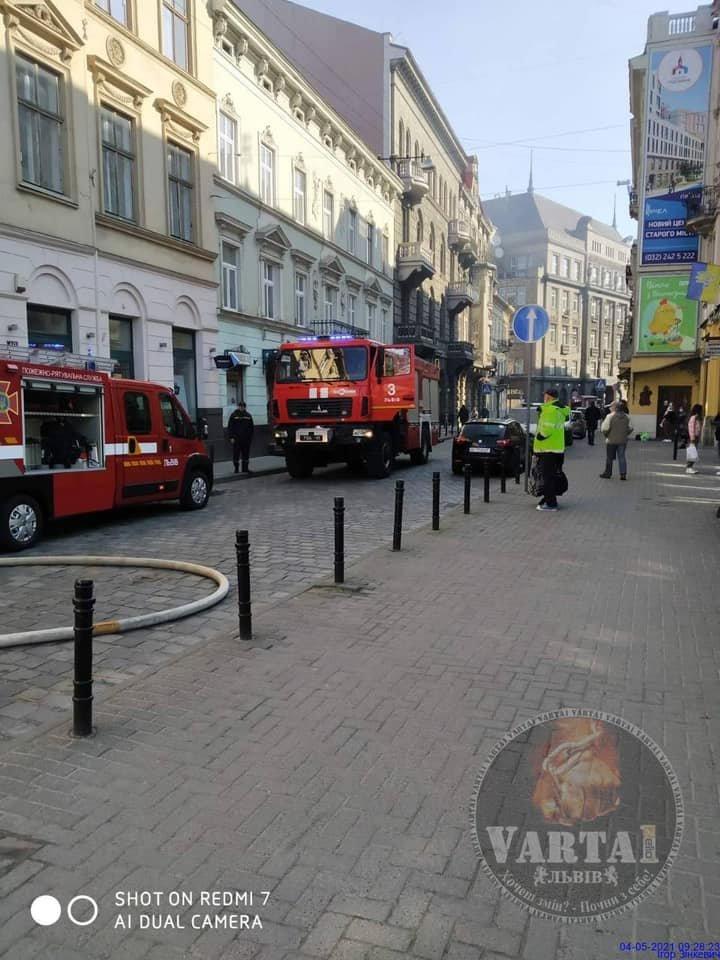 Пожежа на вулиці Коперника, Фото: Варта-1
