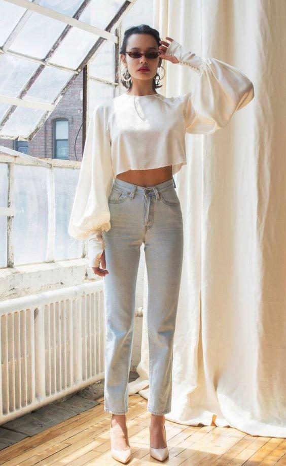 Трендові вкорочені сорочки у 2021 році, Фото - pinterest
