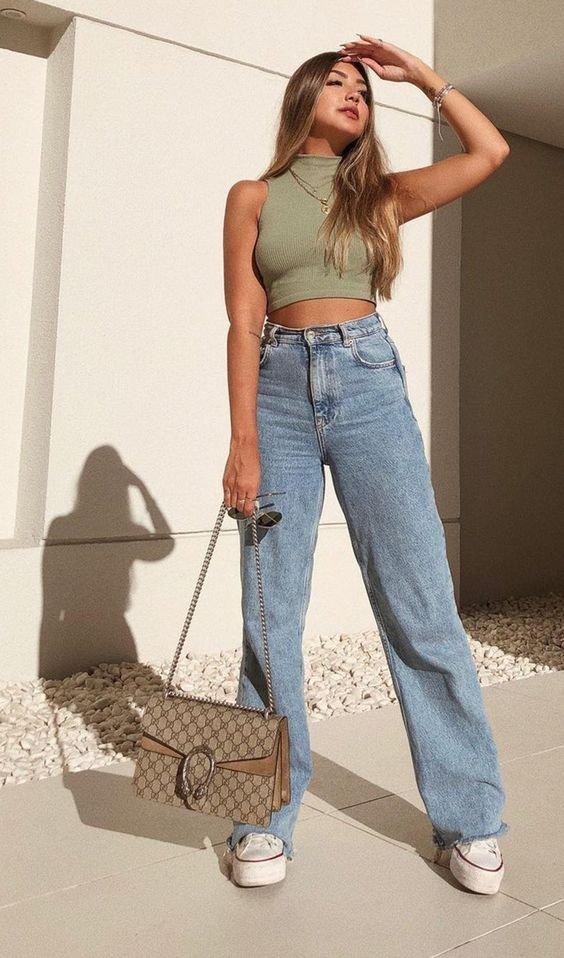 Трендові джинси Wide Leg  на літо, Фото - pinterest