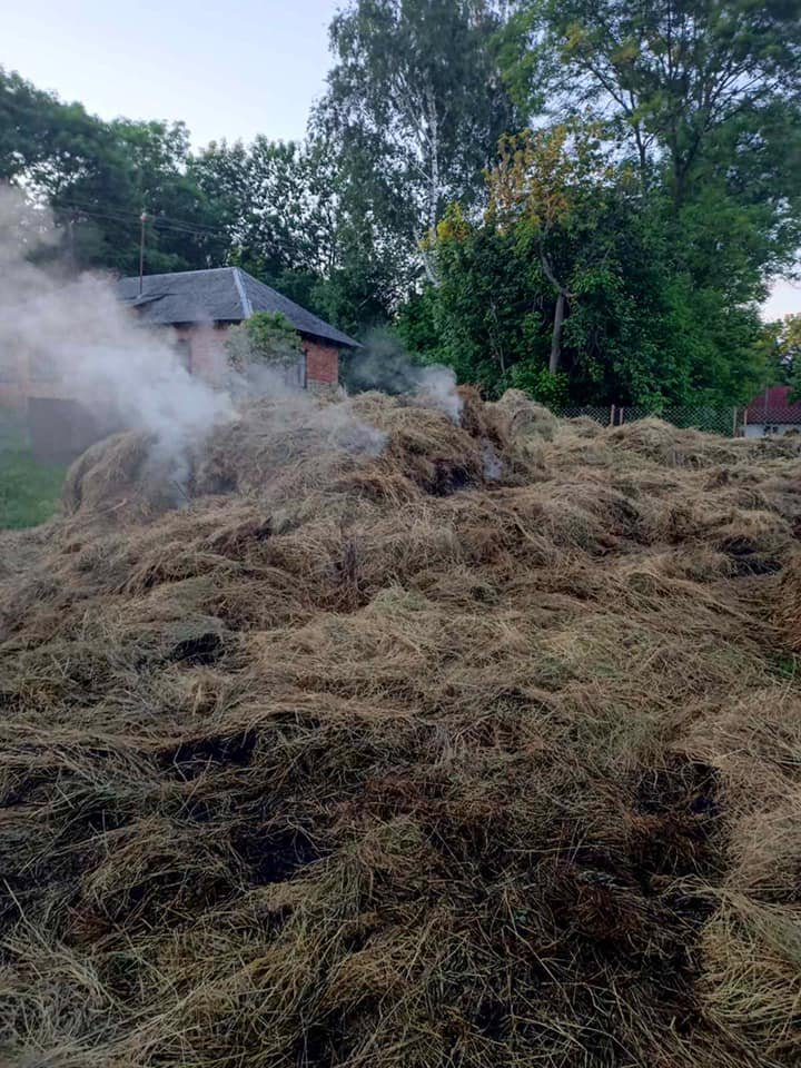 Пожежа у Золочівському районі, Фото - ДСНС Львівщини