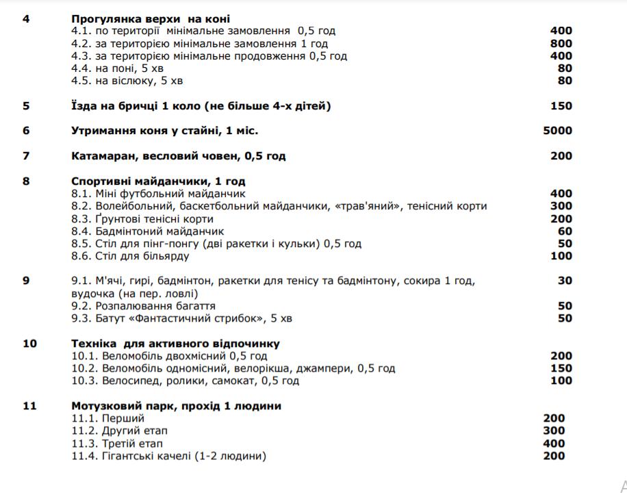 """Ціни у """"Бухті Вікінгів"""" на Львівщині, Фото -  """"Бухта Вікінгів"""""""