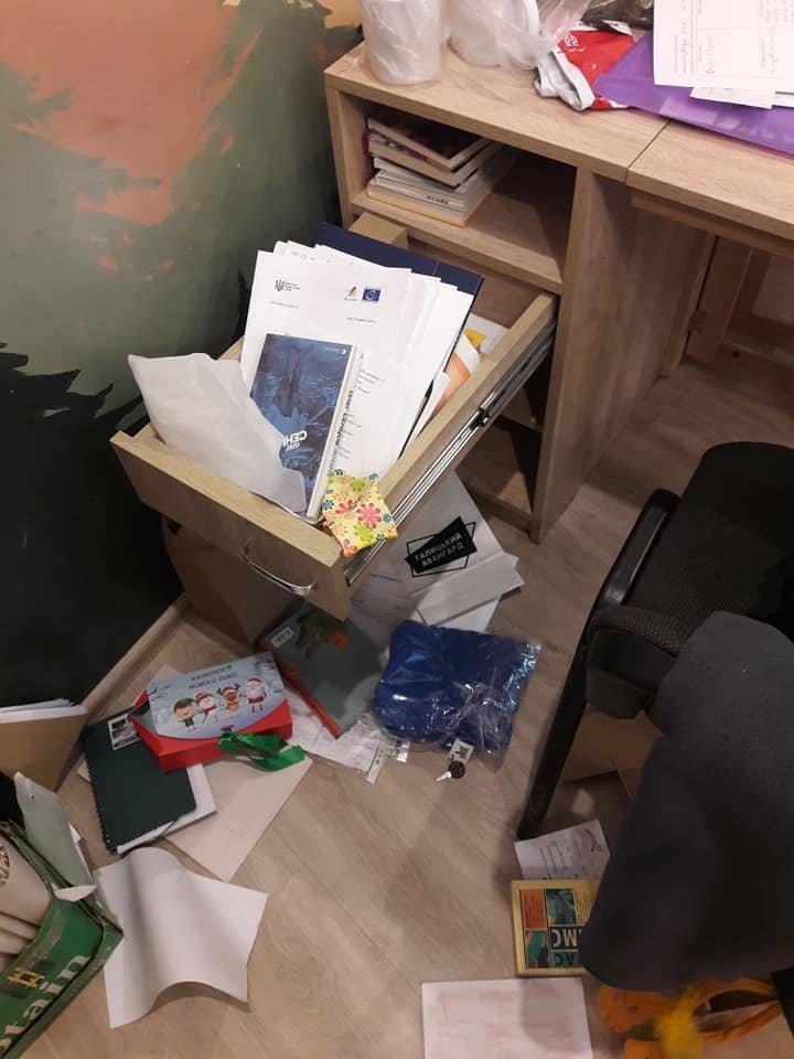 Крадіжка у Львівському обласному молодіжному центрі