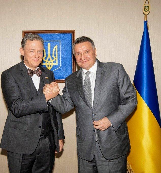 Арсен Аваков та Джордж Кент, Фото: Фейсбук Арсена Авакова