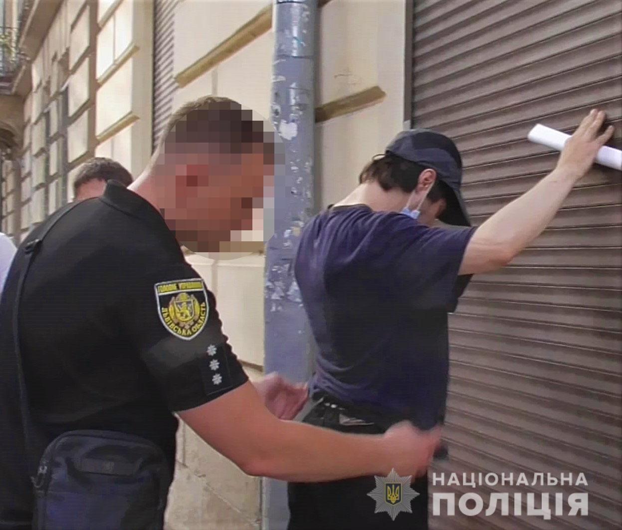 Поліцейські затримали розповсюджувача наркотиків у Львові, Фото: пресслужби поліції Львівщини