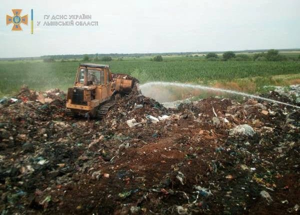 Пожежа на сміттєзвалищі, Фото: ДСНС Львівщини