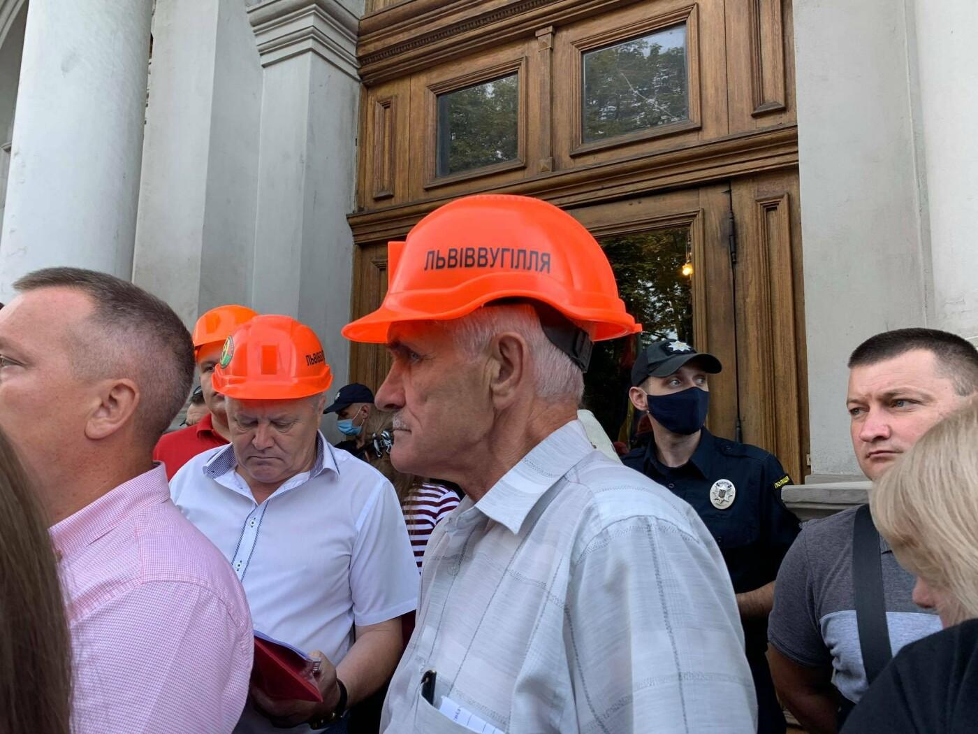 Пікет шахтарів у Львові