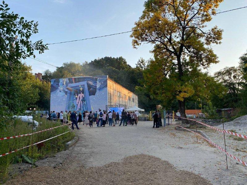 На стіні компресорної станції у Львові відкрили мурал, Фото: 032.ua