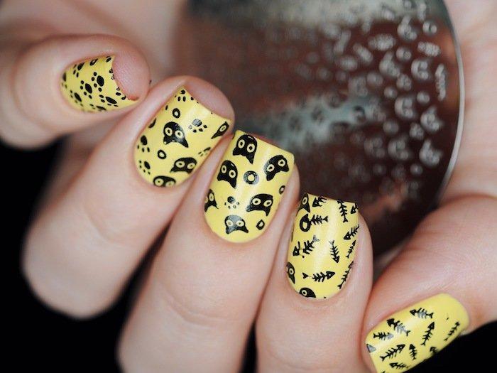 гарні нігті з котиками